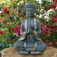 bouddha méditation doré sur le site alain rivera