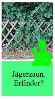 Dieses Foto zeigt einen Jägerzaun in der typischen Form einer Nürnberger Schere.