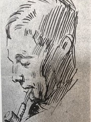 Self Portrait (1927) by AJ Munnings (Lamorna Birch Estate)