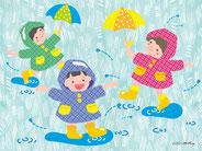 梅雨のイラスト(梅雨入りの早い年もあります)