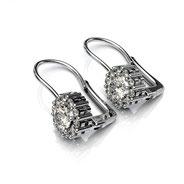 Boucles d'oreilles à bascule diamants or blanc