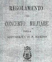 REGOLAMENTO BANDA    MILITARE DI SAN MARINO 1899
