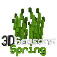 3D Seasons Spring Logo