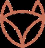 Logo des Jardins du renard et du papillon : le renard. On ne voit bien qu'avec le coeur.