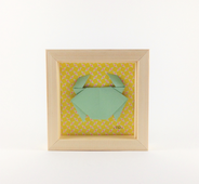 Cadre origami Crabe - Format 11x11cm - 20€