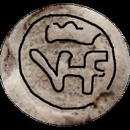 VF gekroond (met verbindingsstreep)