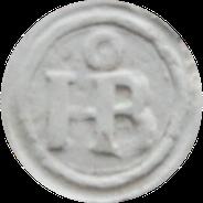 HB monogram met O boven