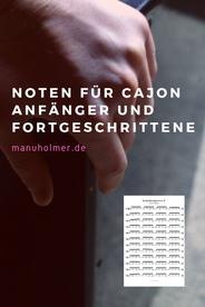 Noten Cajon Anfänger PDF