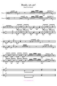 Schlagzeugnoten Duett Anfänger