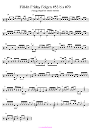 Coole 4/4 Schlagzeug Fills lernen