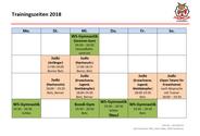 Trainingszeiten 2018 Judo Club Stockerau