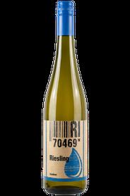 Flasche vom Riesling Wein in den Stuttgarter Weinbergen
