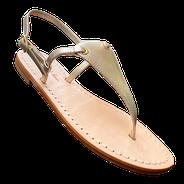 sandali in camoscio rosso