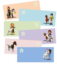 Tischkarten Pferd & Pony