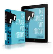 Bildbeschreibung: Fotomontage des Taschenbuch-Covers und eines Tablet-Computers
