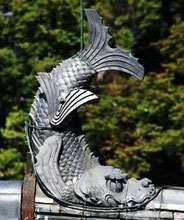 Shachi-hoko sur le tenshu de Matsumoto-jō