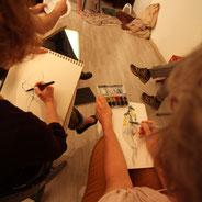 Modèle vivant atelier cours dessin peinture art balade randonnée visite bordeaux victoire
