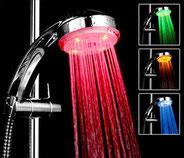 душ со светодиодами
