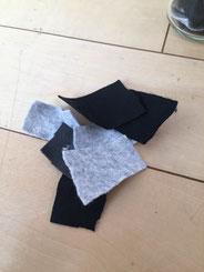 キッズヨガの小道具、心のゴミ。フェルトで作ってみました。