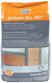 50lb Bag of Schluter All Set Gray