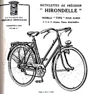 Bicyclette Hirondelle de ma mère