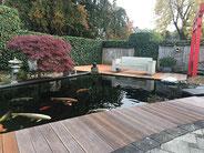 Teichbau japanischer Garten in Rheine NRW Tokuna