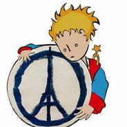 Facebookbild - Symbol nach Terroranschlägen in Paris, 2015