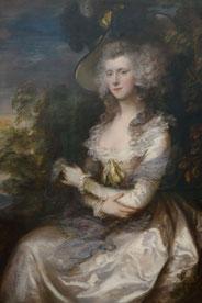 Mrs. Thomas Hibbert, Thomas Gainsborough, 1786, Neue Pinakothek München. Foto: Nina Möller - Rokoko Mode Frisur