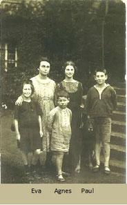 Susanne, Eva, Franz, Agnes und Paul Oppenheim (1920)