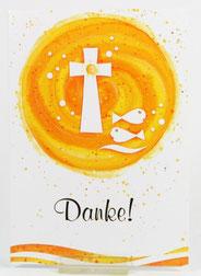 Kommunionkarte Einladung & Kreuz Fische 5er Set