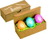 Ostereier bedrucken, Ostereier Verpackung, Ostereier 3er Verpackung, Logo Ostereier Verpackung