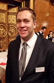 Michael Weinreich auf dem Neujahrsempfang  im großen Saal des Hamburger Rathauses