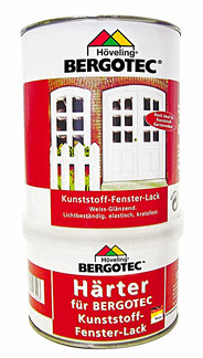 Bergotec Kunststoff-Fenster-Lack 2K PUR Lack - weiß glänzend -