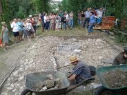 Fouilles archéologiques au château d'Eaucourt bilan au 07 août 2015.