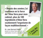 """""""Un puissant revitalisant"""" L'absorption régulière d'Aloe Vera aide le corps à surmonter de nombreuses maladies. Elle agit comme un puissant revitalisant et favorise le bien-être général. Dr Carlheinz Hufnagel  Allemagne Aloe vera sante beauté LR Health"""