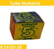 Cubo numeros material didactico para estimulacion temprana y aprender matemáticas