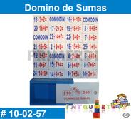 Material didáctico de madera matemáticas Domino de sumas