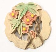 2寸花丸彫物彩色1