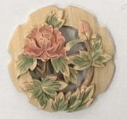2寸花丸彫物彩色10