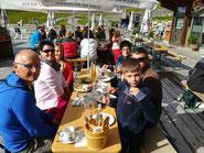 ....beim Bergfrühstück auf dem Schafberg