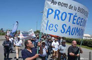 Manif sauvegarde du saumon Atlantique ACCOB 30 mai 2019