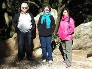 L'équipe chargée de l'intendance: Guy, Bernadette et Béatrice