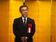 来賓の挨拶をされる参議院議員の脇雅史幹事長。