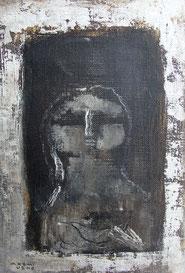 A window 22.7×15.8cm Oil on canvas 2018