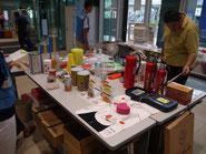 防災用品の展示