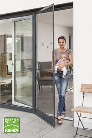 Insektenschutz Drehrahmen für Türen, Fliegengitter-Tür, Mückenschutztür