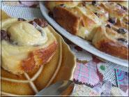 tarte briochee rosace raisin amande