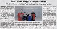 Artikel Kreiszeitung vom 08.03.2019