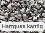 Hartgussgranulat, metallisches Strahlmittel, Hartguss, Guss, Iron