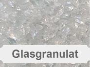 Glasgranulat, Sandstrahlen, Strahlmittel, Glasperlen, Glasstrahlen, Glasbruch